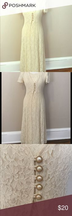 90s ivory lace dress Beautiful laced backed 90s ivory dress. Great for summer days and early fall walks around the park. Dresses