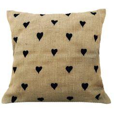 Burlap Pillow Cover