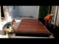 Jacuzzi, Outdoor Furniture, Outdoor Decor, Deck, Youtube, Home Decor, At Home Spa, Blanket, Small Pool Design