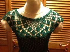 Крючок платье с элементами рисунка Павлиний хвост / Вязание крючком / Вязание крючком. Ваши работы