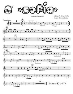 sofia Saxophone Sheet Music, Piano Sheet Music, Music School, Music Class, Ukulele, Guitar Chords, Oboe, Teaching Music, Musicals