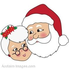 These faces of santa and mrs. Claus would be cute to make yourself and put on log! Santa And Mrs Claus