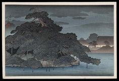 1920 - Hasui, Kawase -Rainy Night on the Pine Islet Matsunoshima