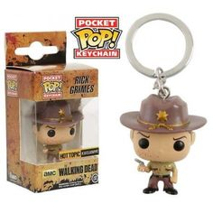 Funko Keychain Bloody Rick Grimes, Hot Topic Exclusive, The Walking Dead, TWD, Chaveiro, AMC, Séries