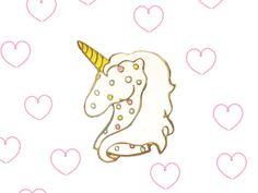 1.5 inch Frosted Glitter Unicorn cookie Gold metal enamel lapel pin by LASPACEBASE on Etsy https://www.etsy.com/listing/263488159/15-inch-frosted-glitter-unicorn-cookie