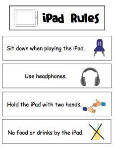 Visual iPad Rules {a must have for special ed classrooms} by theautismhelper.com