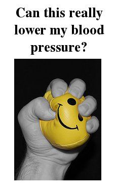 How to do hand grip exercises to lower blood pressure. Click here for instructions.