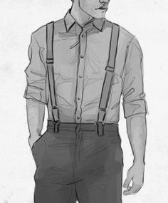 """medicatedmaniac: """" Anonymous Sketch Request: Castiel in Suspenders (detail) """" T Shirt Sketch, Shirt Drawing, Guy Drawing, Character Drawing, Character Design, Supernatural Drawings, Supernatural Art, Castiel, Art Reference Poses"""