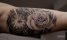 watch rose tattoo by mil5 on DeviantArt