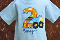 Dump Truck Birthday Shirt / Construction / by AddieKakesKreations, $27.00