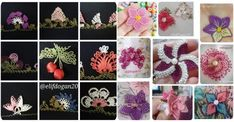 Birbirinden Güzel Tülbent Oyaları - Hobiler - Hobiler Needlework, Origami, Crochet Necklace, Floral, Flowers, Jewelry, Florals, Dressmaking, Jewlery