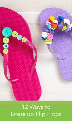 Super Diy Summer Clothes For Teens Flip Flops Ideas Flip Flop Craft, Kids Flip Flops, Beach Flip Flops, Flip Flop Shoes, Flip Flops Diy, Diy Summer Clothes, Summer Outfits For Teens, Summer Diy, Diy Clothes