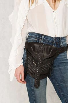 Zip Locked Leather Bag - 70's Festival