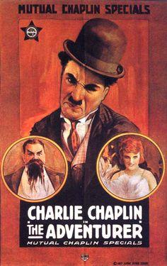 The Adventurer (1917) Charlie Chaplin - silent film poster