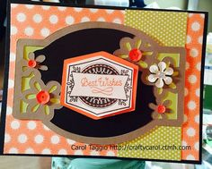 CraftyCarol : August 2015 Stamp Of the Month Blog Hop #CTMHZoe #Artistry - card front