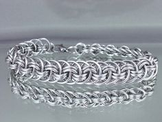 Viper Basket Chainmail Bracelet by RingedDesigns on Etsy, $22.98