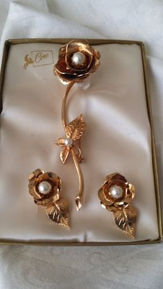 Lovely Vintage Demi Parure CORO Brooch & by RuthiesThisandThat, $30.00