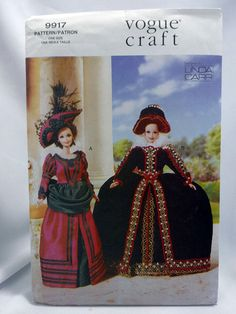 Vogue 9917 is a Fashion Doll Clothing Pattern. For 11-1/2 dolls. Historical Costumes. Uncut. Some very minor wear on sleeve from storage but