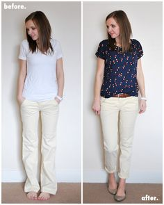 click for tutorials by merrick's art. she refashions items from her closet and breathes new life into them! (and really makes me want to learn how to sew!!)