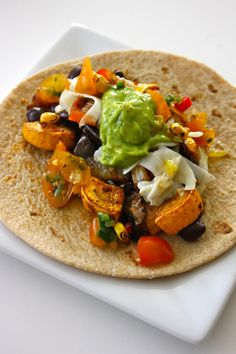 My kind of meal!: Roasted Summer Vegetable Tacos from @Melissa Squires Vegenista