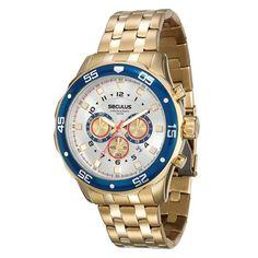 Relógio Masculino Analógico Seculus 20313GPSVDA1 - Dourado - Analógico no… Relogios  Masculinos Importados, Melhor 8e09191c2b