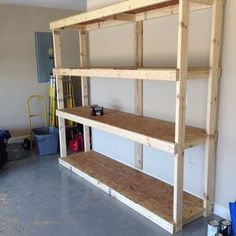 storage shelves for garage plans easy wood shelf design on new garage organization ideas on a budget a little imagination id=90596