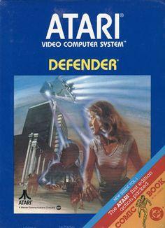 Collection of Atari game boxes