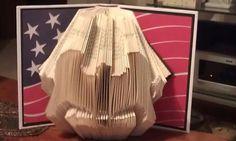 Folded Book Art  Bald Eagle  Made to order by MissArtsyCraftsy, $20.00