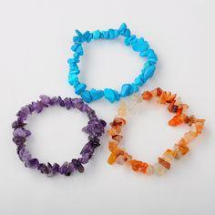 PandaHall Jewelry—Gemstone Chips Stretch Bracelets... | PandaHall Beads Jewelry Blog