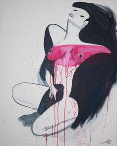 The Girl With The O  Acrylic color on canvas  80 x 100cm