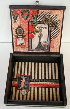 Scrap, Travel, and Bark!: A cigar box altered with G45 Couture. Love the inside of Maggi's altered cigar box #graphic45