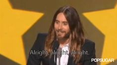 Pin for Later: 10 Quintessential Moments From Last Year's Critics' Choice Awards Jared Leto Did a Matthew McConaughey Impression