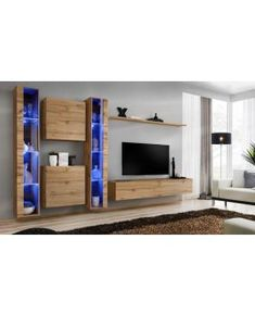 Classic Living Room, Living Room Modern, Living Room Designs, Floating Wall Unit, Floating Cabinets, Living Room Wall Units, Ikea Living Room, Armoires Murales Tv, Tv Wall Cabinets
