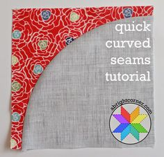 Quick curved seams tutorial from A Bright Corner.