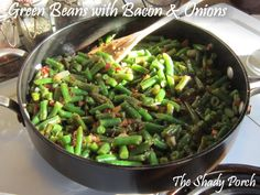 Green Beans with Onion and Bacon make extra portions and use as snack or side dish and then use coconut oil to stir fry. you get pro veg and healthy fat  you could add mushrooms /zucchini etc