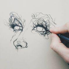 "6,320 Likes, 14 Comments - ArteVM (@artevm) on Instagram: ""Amazing Art by: @benjamin.marr ____________________________ #sketch #pencil #drawing #eyes…"" #pencildrawings"