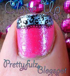 Prettyfulz: KONAD PEDICURE| Cute Spring Bright Pink & Blue Pedicure Nail Art Design