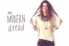 Modern Dread Tutorial! These are mild dreadlocks that will wash out easily. Festival Hair!