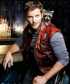 "Chris Pratt as Peter Quill/Star-Lord, ""Guardians of the Galaxy"""