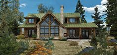 Amber Ridge - Log Homes, Cabins and Log Home Floor Plans - Wisconsin Log Homes