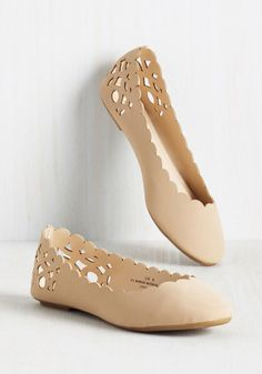 Above and Beau Monde Flat in Beige, @ModCloth