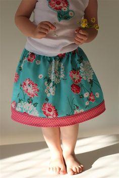 Easy Peasy Overlock/Serge -Free Child's Skirt Tutorial