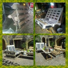 Cute The Use Of Wooden Pallets For Garden Creations  #garden #palletarmchair #recyclingwoodpallets Alexandre (proposing this post) says that the only limit for pallet recycling is your imagination!   Toute palette peut être recyclée. La seule l...
