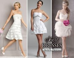 Short Wedding Dresses for the more casual wedding
