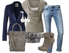 blue gray - Casual Outfits - stylefruits.nl
