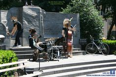 Jamming & Grooving in Madison Square Park.
