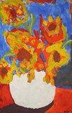 Van Gogh inspired using underpainting  Tempera - 3rd grade