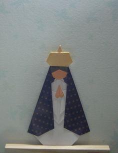 Virgen en origami