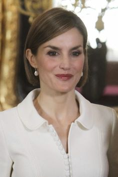 Reines & Princesses - King Felipe and Queen Letizia attends a lunch in ocassion of the 2014 Cervantes Awards