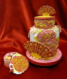 oriental - by kelvin chua @ CakesDecor.com - cake decorating website